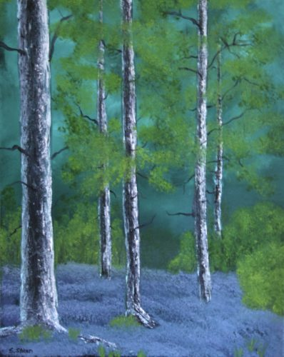 Moonlit Forest by Sharon  Staten
