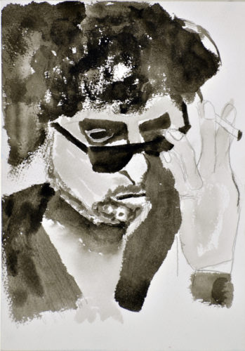 Bob Dylan by Lisa Cairns
