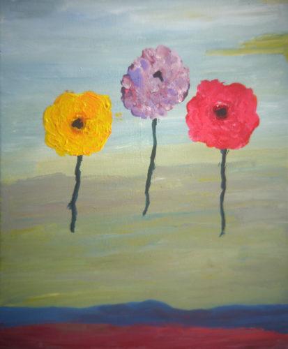 Poppies 1 by Alan J Howard