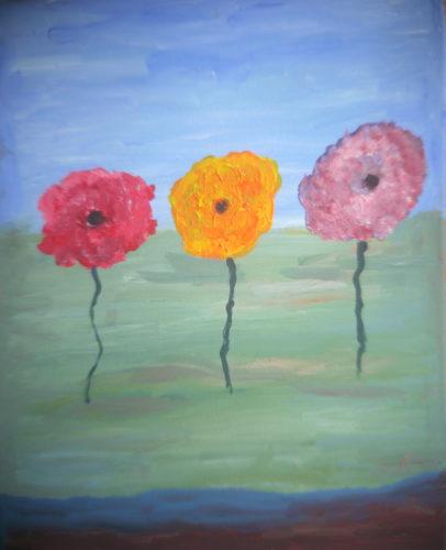 Poppies 2 by Alan J Howard