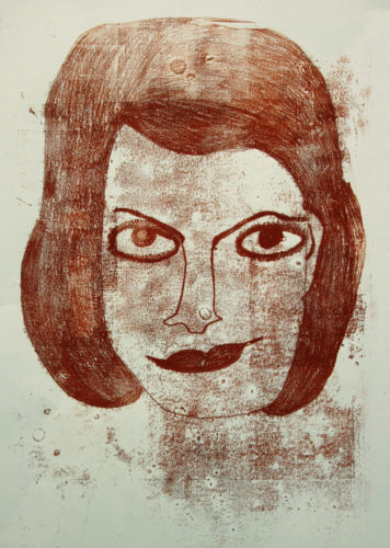 Woman's face by Anne Smith