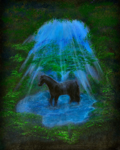 Horse in my world by Maureen Doyle