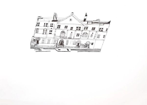 Bute House by Ramsay Gardens and High Street, Edinburgh