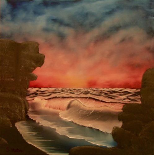 Rachael's Seascape by Sharon  Staten