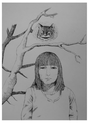Cheshire Cat by Janet Sainsbury