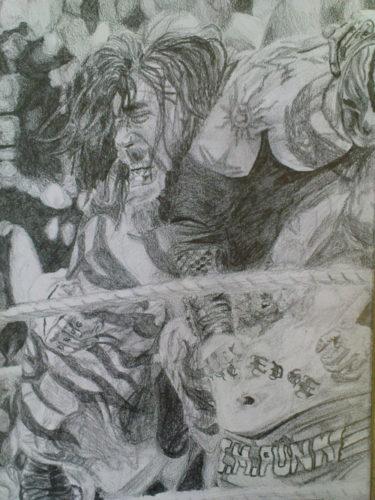 cm punk sketch by Sean G