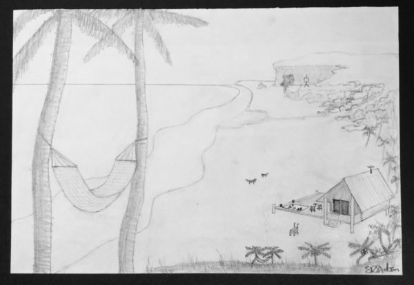 Sketch on the Island by Sharon  Staten