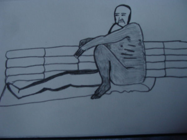 Man On Bench by jo