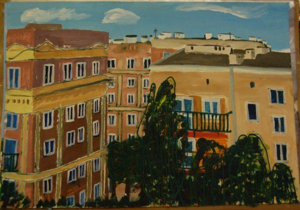 View from window in Warsaw by Anna Wieczerzak