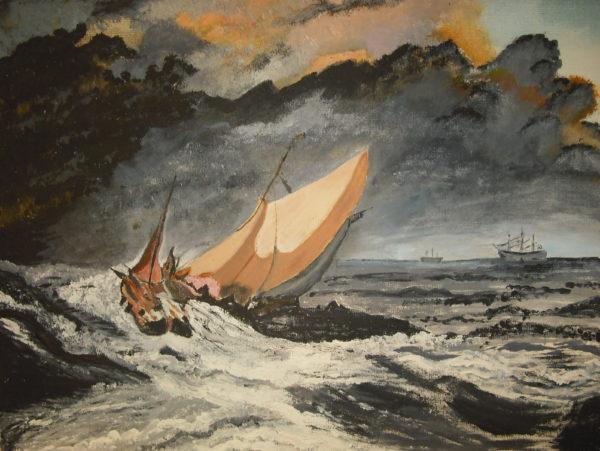 Stormy sea by Ivy Hazlewood