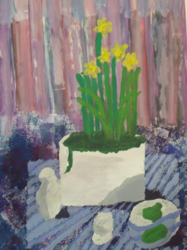 Still Life with Daffodils by Grace Tunnell