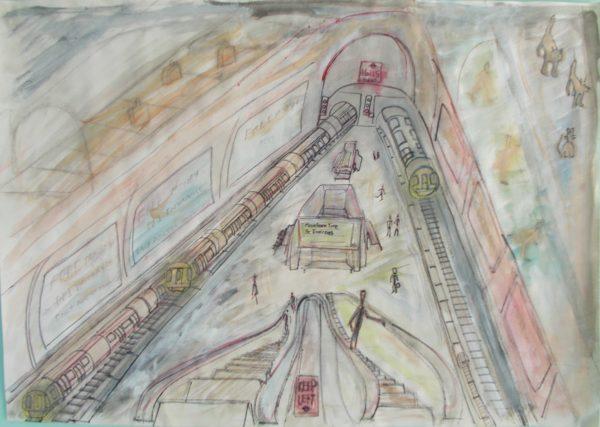 Escalator by Tom Stanford
