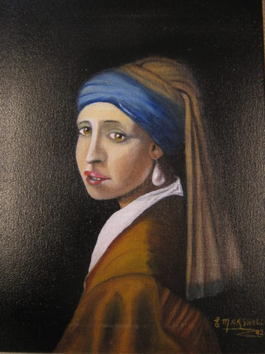 The Girl with the Pearl Earring (after Vermeer) by Eric  Marshall