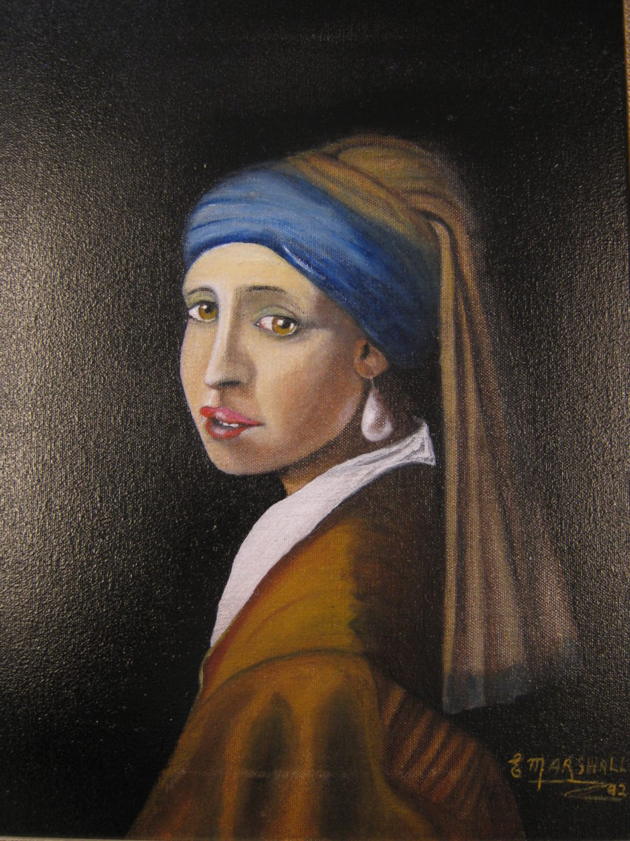 14898 || 3156 || The Girl with the Pearl Earring (after Vermeer)
