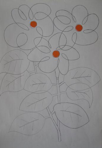 flowerdrawing by Mark Cawson