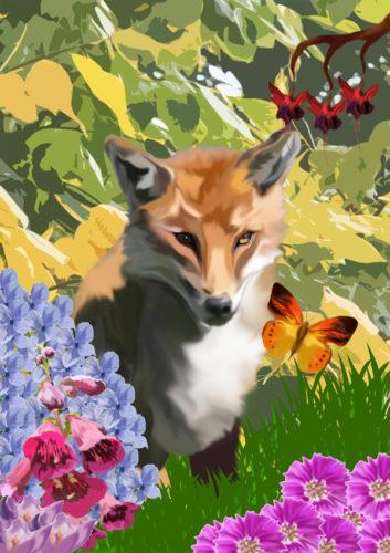 fox_and_the_butterfly by Amanda Hamilton