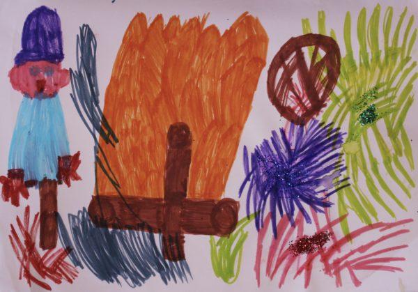 Bonfire by Lizzies Art