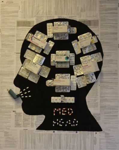 Med Head by Bev Faulks