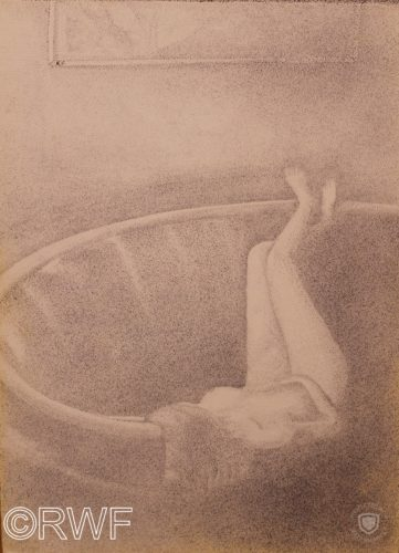 Nude on Circular Sofa by Richard Fletcher