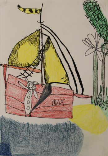 Max on a boat by Hannah McKenzie