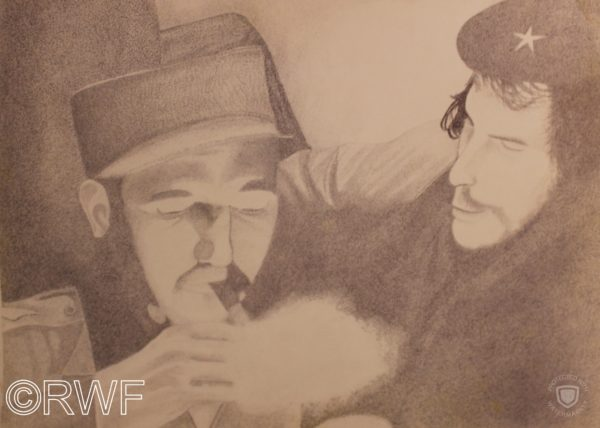 Fidel Castro and Che Guevara by Abstract featuring Blue