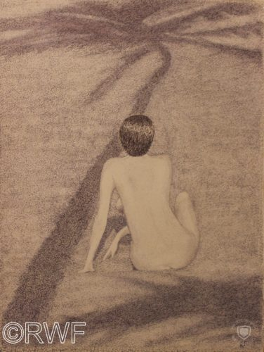 Nude on a Beach by Valley of Glencoe, Argyll, Scotland