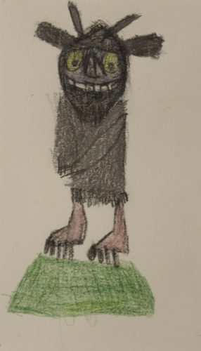 Where the Wild Things are drawings by Hannah McKenzie