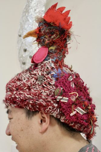 Chicken hat by Garvald Puppetry