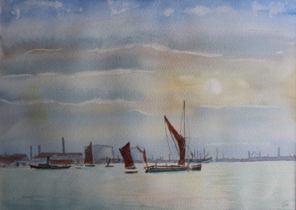 Thames Barge by Ian Huggett