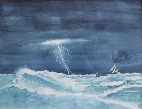 Storm at Sea by Ian Huggett