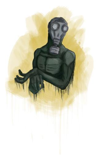 Gas mask Painting by Joe Mcgwynn
