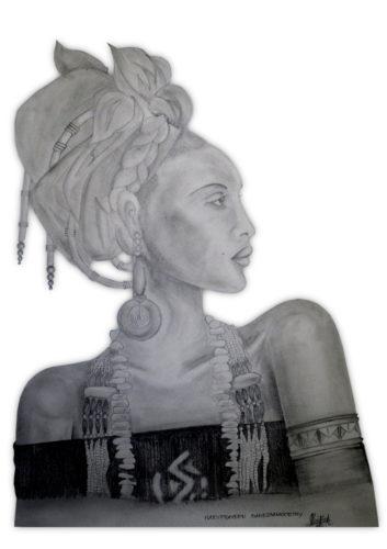 African lady by HARYPRAVEEN GANESHAMOORTHY