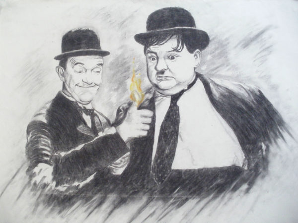 Laurel and Hardy by Anthony Hill