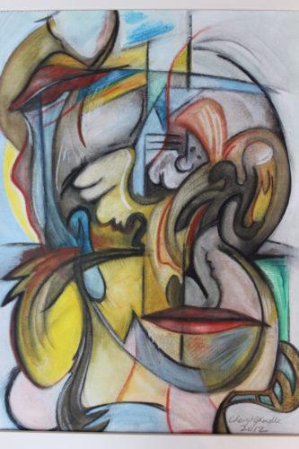 Face Fold Folk by Cheryl Grindle