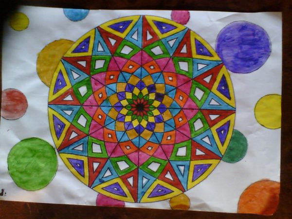 34168 || 5300 || Mandala using acrylic paint