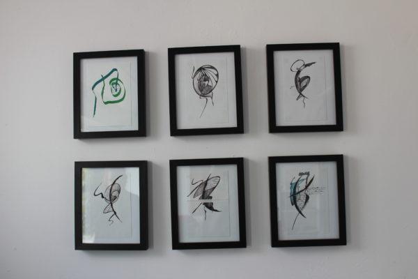 Series of drawings (displayed Chilli Studio shop) by Lynne M Penman