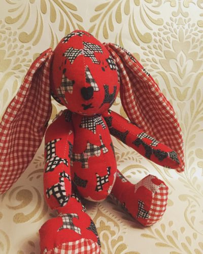 Red scotty dog rabbit by JULIA CALLAM