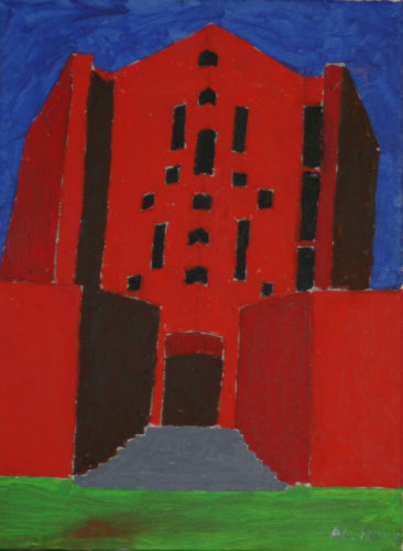 Red monastery by Alan Lesslie