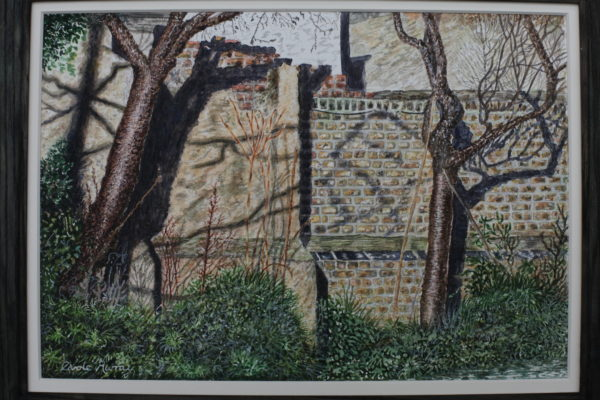 Shadows on an Almshouse Wall by Carole Murray