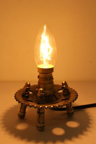 One of a kind up cycled lamp by Ken Beak