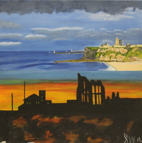 Tynemouth Abbey Day and Night by Woodie