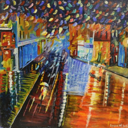 Shopping in the Rain by Woodie