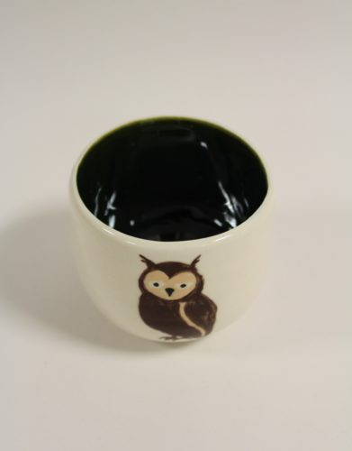 """""""Japanese"""" Teacup with Owl Insignia by Nadia Halliday"""