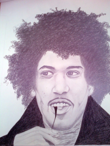 Jimi Hendrix by Aileen Carruthers