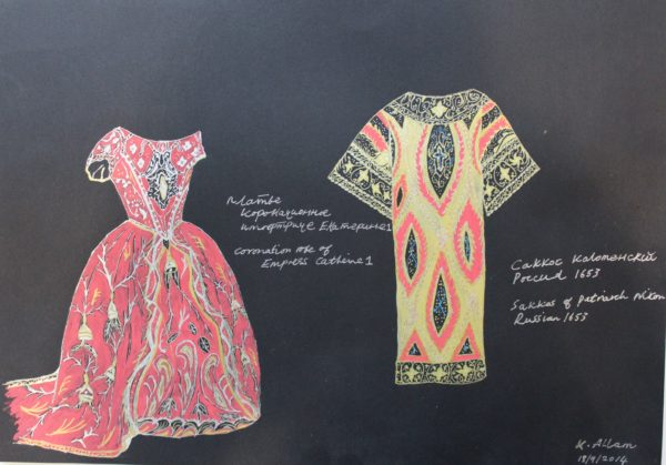 Russian Court Dress by Katie Allam