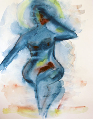 Lady with Menopausal Headache by Laura Laube-Kurovska
