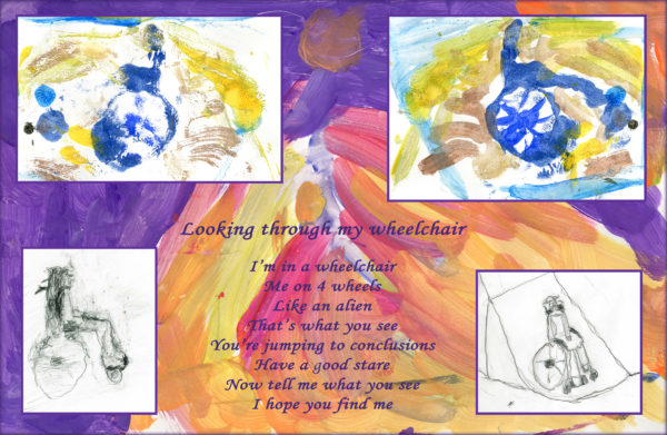 looking though my wheelchair by Anna Harper