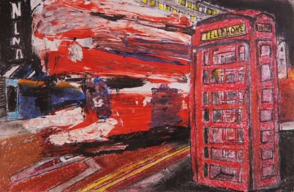 Bus and Telephone Box by Jo Smith
