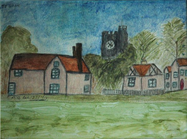 Village Green by Phyllis