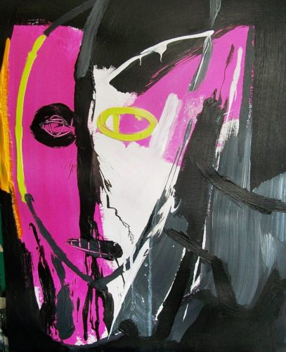 Pink Lime Face by Jacqueline Jones